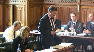 Democracy in action: David Gauke at Monday's delegated legislation committee session