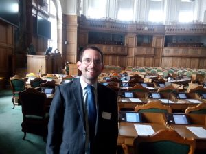 The Folketinget (Danish parliament) chamber
