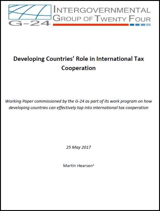 Developing Countries' Role in International Tax Cooperation