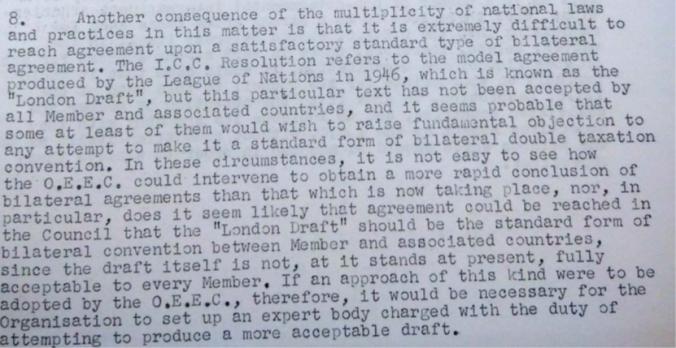 Extract from OEEC Secretary General's memo, 12 November 1954