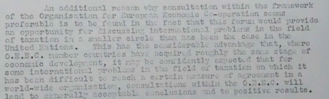 Extract from Dutch memo to the OEEC, 11 July 1955